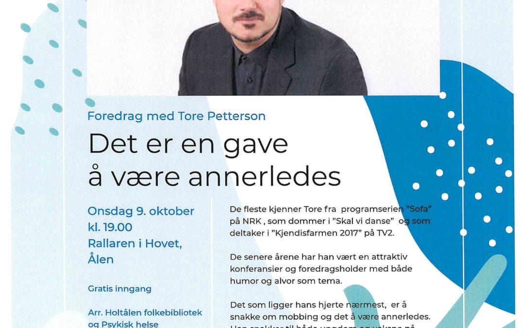 Foredrag med Tore Petterson i Rallaren, Hovet 9. oktober